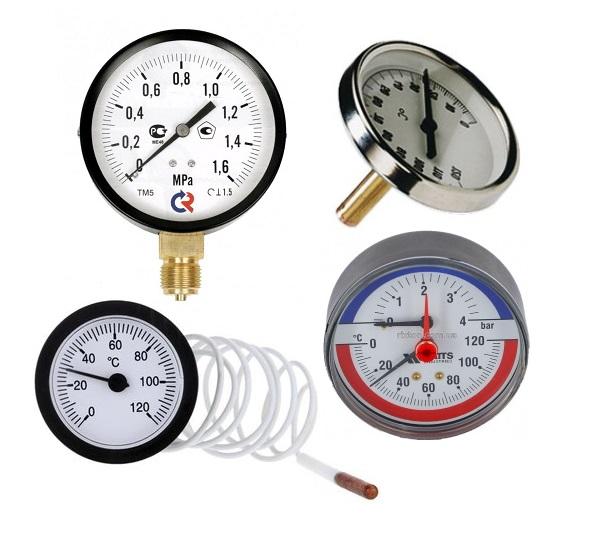 Манометри, термометри
