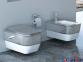 Биде Idevit Halley белое/декор серебро, подвесное (520x360x310 мм) 1