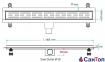 Трап для душа Valtemo Starline Base 80см 50 боковой выход с гидроизоляцией 0