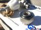 Комплект радиаторных кранов угловой Tiemme 1/2 с уплотнительными кольцами 2