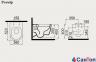 Подвесной унитаз Idevit Alfa Iderimless, белый (520x360x350 мм) 10