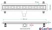 Трап для душа Valtemo Starline Base 40см 50 боковой выход с гидроизоляцией 0