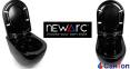 Подвесной унитаз Newarc Modern Rimless черный с сиденьем (550x370x370) 4
