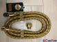 Шланг для душа и биде Kohan 1500мм антибактериальный-растяжной, волнистый, цвет золото 0