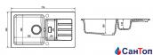 Гранитная кухонная мойка AXIS Malibu 80, черная 0