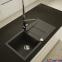 Гранитная кухонная мойка AXIS Cascada 40, черная 1