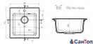 Гранитная кухонная мойка AXIS Coast  20, черная 0