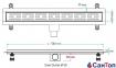 Трап для душа Valtemo Starline Base 50см 50 боковой выход с гидроизоляцией 0