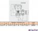 Комплект радиаторных кранов угловой Tiemme 1/2 с уплотнительными кольцами 5