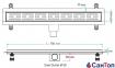 Трап для душа Valtemo Starline Base 70см 50 боковой выход с гидроизоляцией 0