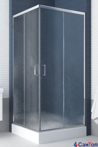 Душевая кабина New Trendy Feria 90/185 квадратная, стекло перламутр