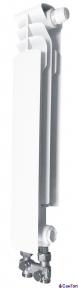 Радиатор алюминиевый Armatura G500 F/D, левая секция (нижнее прямое подключение)