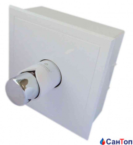 Кассетный комплект SCHLOSSER с термостатическим клапаном и головкой Brillant, Белый-хром, GZ 3/4