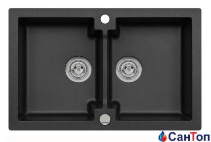 Гранитная кухонная мойка AXIS Mojito 160, черная