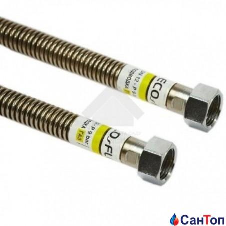 Шланг газовий з нержавіючої сталі сильфонний EcoFlex ВВ-1/2-800мм