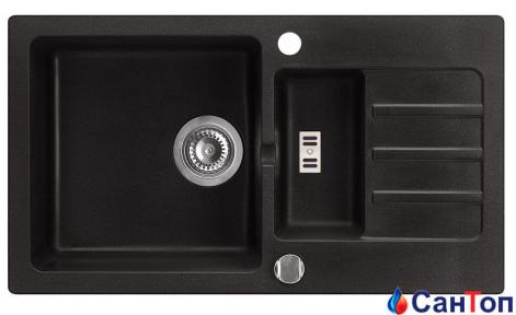 Гранитная кухонная мойка AXIS Malibu 80, черная