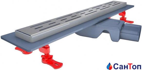 Трап для душа Valtemo Smartline Base 600 мм, боковой выход 50 мм