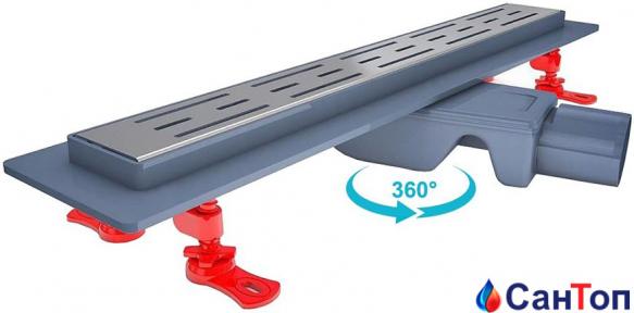 Трап для душа Valtemo Starline Base 40см 50 боковой выход с гидроизоляцией
