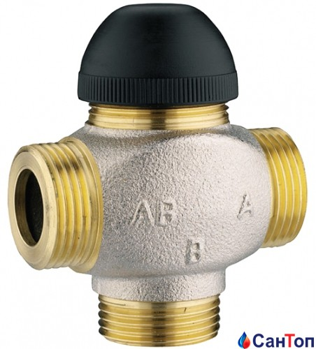 Клапан термостатический трехходовой Herz 7762 H для смешения или распределения DN 20 (1