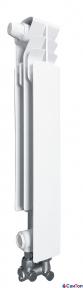 Радиатор алюминиевый Armatura G500 F/D, правая секция (нижнее угловое подключение)