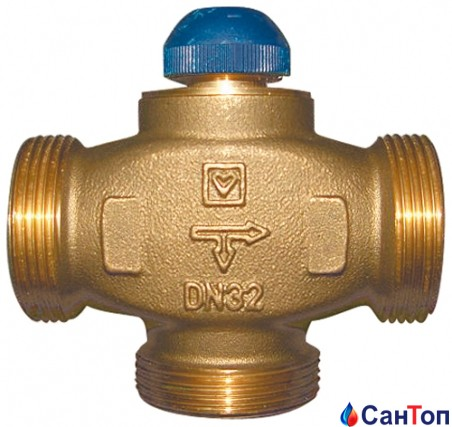 Клапан термостатический трехходовой Herz CALIS-TS-RD (распределение потоков до 100%) DN 25 (1