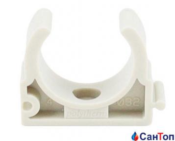 Кріплення для труби (кліпса) одинарне Berke 32 мм біле