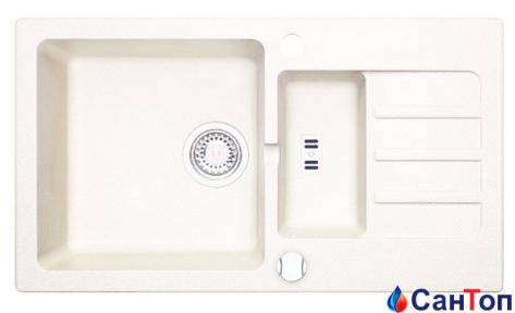 Гранитная кухонная мойка AXIS Malibu 80, белая