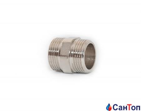 Ниппель латунный никелированный Kalde  1/2' РН