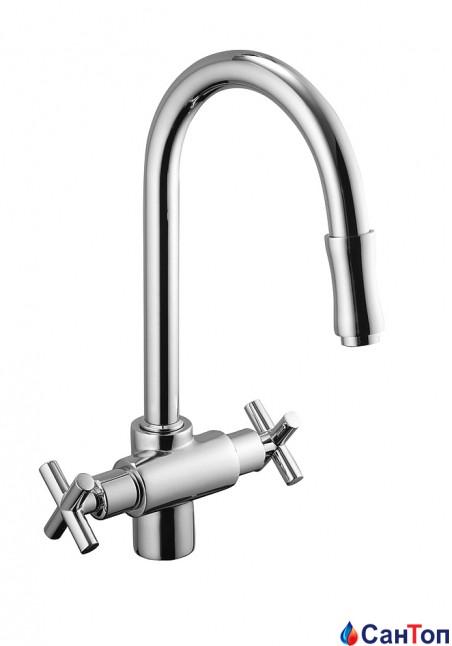 Смеситель для мойки Armatura Symetric с выдвижным душем