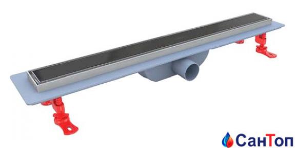 Трап для душа Valtemo Ducoline Arty 80см 40 боковой выход с гидроизоляцией