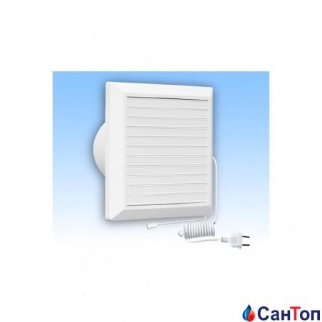 Вентилятор побутовий витяжний HARDI 20x20 d150 з механічними жалюзі і вимикачем