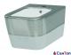 Биде Idevit Halley белое/декор серебро, подвесное (520x360x310 мм)