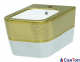 Биде Idevit Halley белое/декор золото, подвесное (520x360x310 мм)