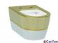 Подвесной унитаз Idevit Alfa Iderimless, бело-золотой, без сиденья (520x360x350 мм)